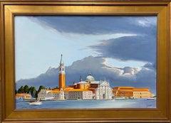 The Island of San Giorgio, Venice, original 20x30 realistic Italian landscape