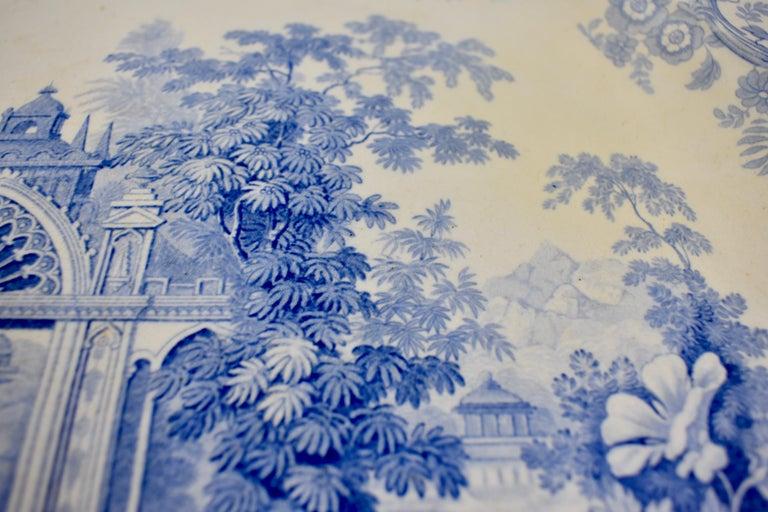 Joseph Heath Staffordshire Blue and White Transferware 'Persian' Platter For Sale 2