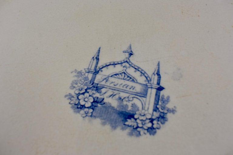 Joseph Heath Staffordshire Blue and White Transferware 'Persian' Platter For Sale 3
