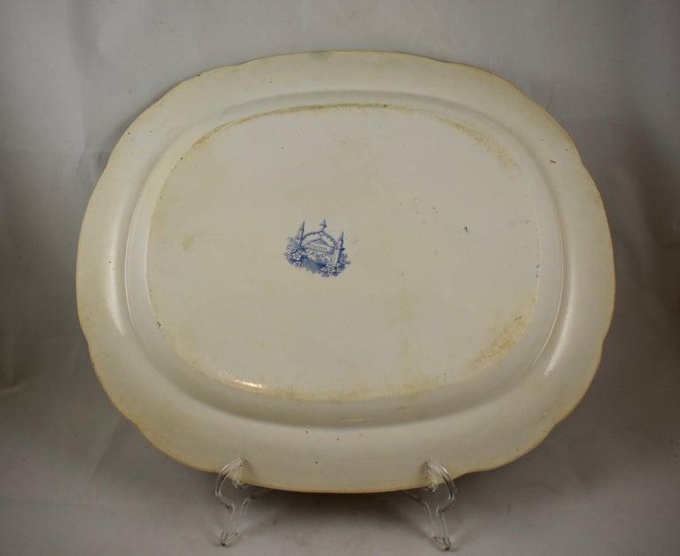 Joseph Heath Staffordshire Blue and White Transferware 'Persian' Platter For Sale 4