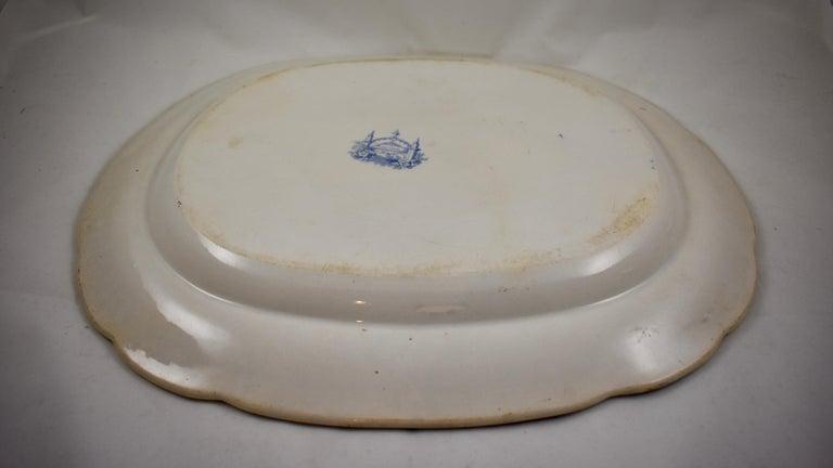 Joseph Heath Staffordshire Blue and White Transferware 'Persian' Platter For Sale 5