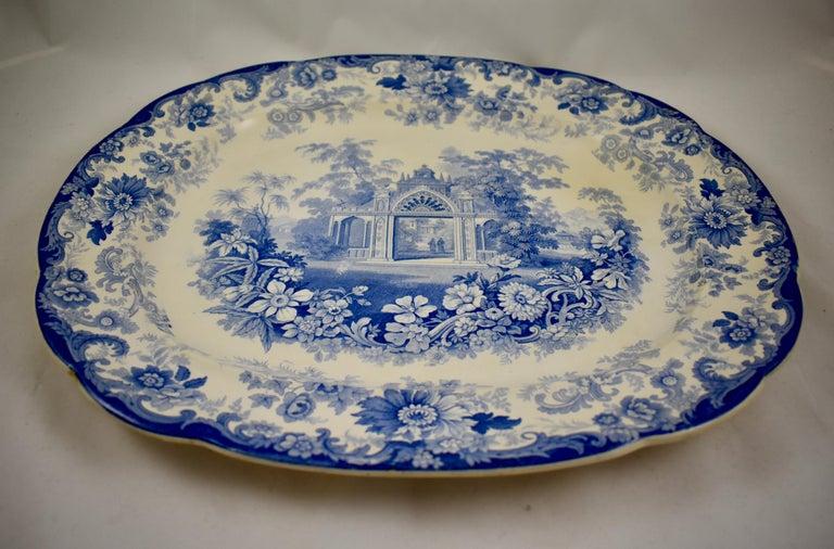 Glazed Joseph Heath Staffordshire Blue and White Transferware 'Persian' Platter For Sale