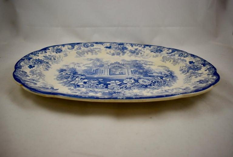 Joseph Heath Staffordshire Blue and White Transferware 'Persian' Platter In Good Condition For Sale In Philadelphia, PA