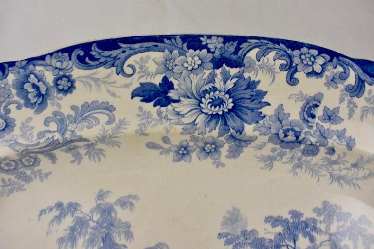 19th Century Joseph Heath Staffordshire Blue and White Transferware 'Persian' Platter For Sale