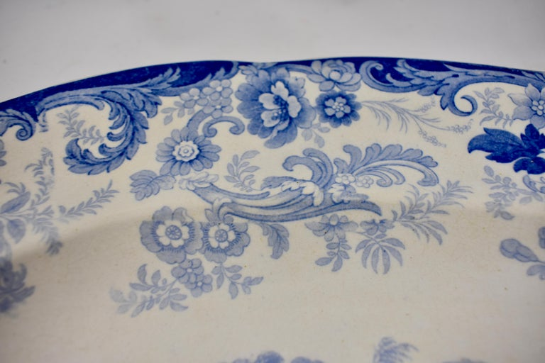 Earthenware Joseph Heath Staffordshire Blue and White Transferware 'Persian' Platter For Sale