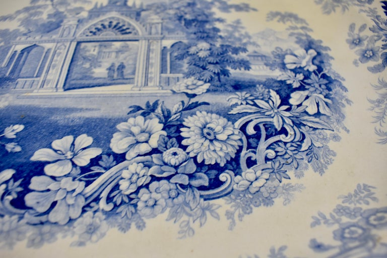Joseph Heath Staffordshire Blue and White Transferware 'Persian' Platter For Sale 1