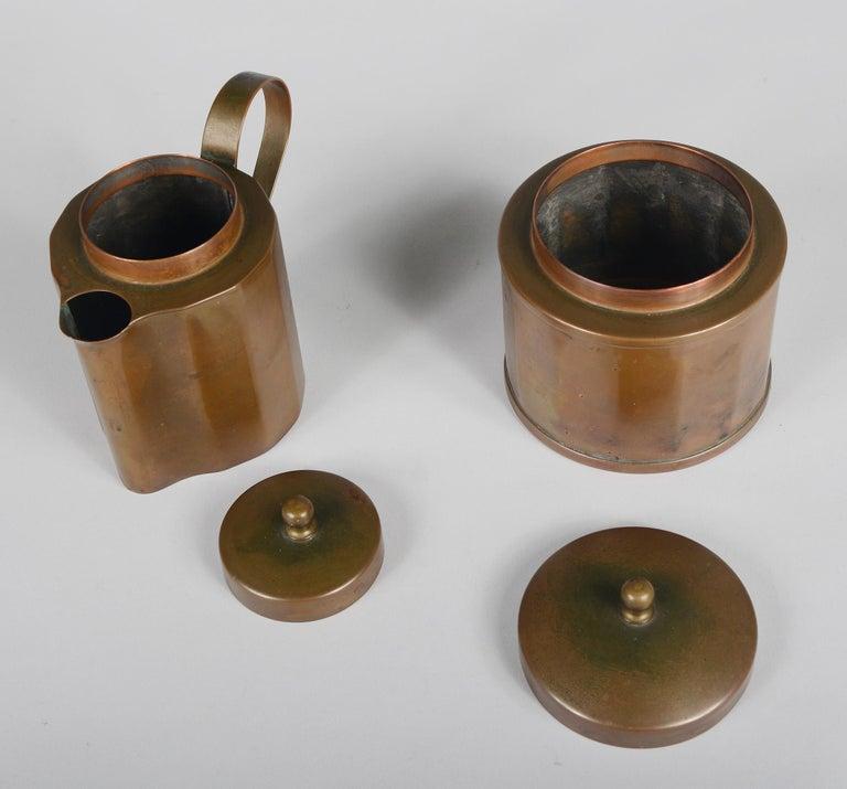 Joseph Heinrichs Copper Coffee Set For Sale 4