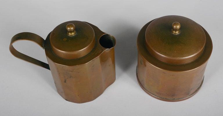 Joseph Heinrichs Copper Coffee Set For Sale 2