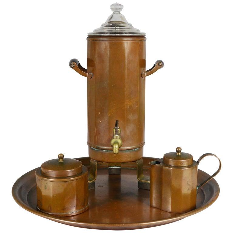 Joseph Heinrichs Copper Coffee Set For Sale
