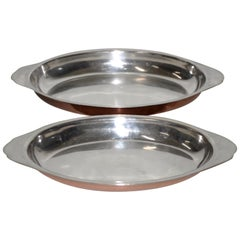 Joseph Heinrichs, New York. Pure Copper and Sterling Silver Platters