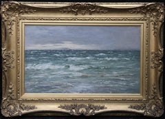 Clearing After The Rain - Scottish 19thC Impressionist art seascape oil painting