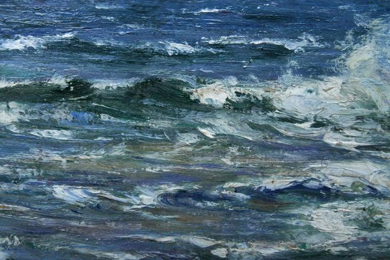 Rocky Coastline - Scottish art Impressionist coastal seascape oil painting For Sale 2