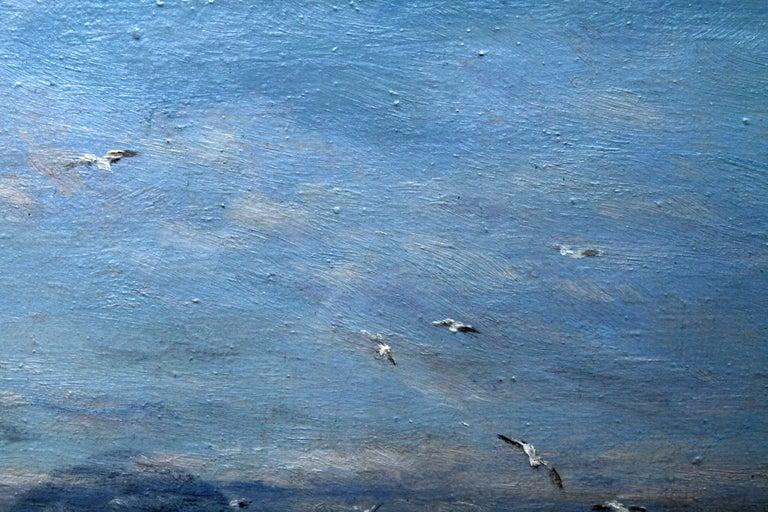 Rocky Coastline - Scottish art Impressionist coastal seascape oil painting For Sale 4