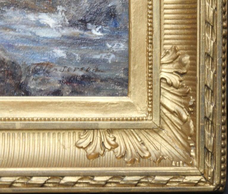 Rocky Coastline - Scottish art Impressionist coastal seascape oil painting For Sale 6