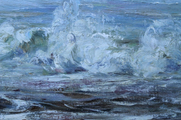 Scottish Seascape -Scottish Impressionist 19th century art oil painting Scotland For Sale 2