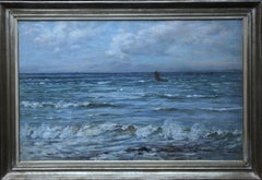 Scottish Seascape -Scottish Impressionist 19th century art oil painting Scotland