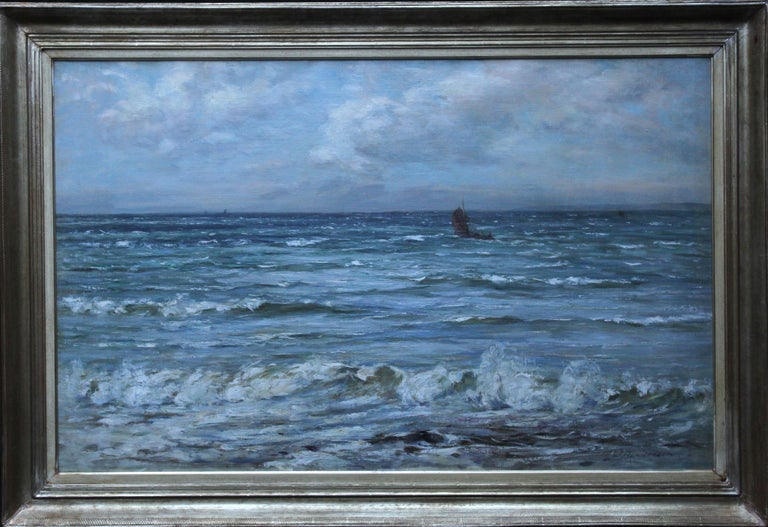 Joseph Henderson R.S.W Landscape Painting - Scottish Seascape -Scottish Impressionist 19th century art oil painting Scotland