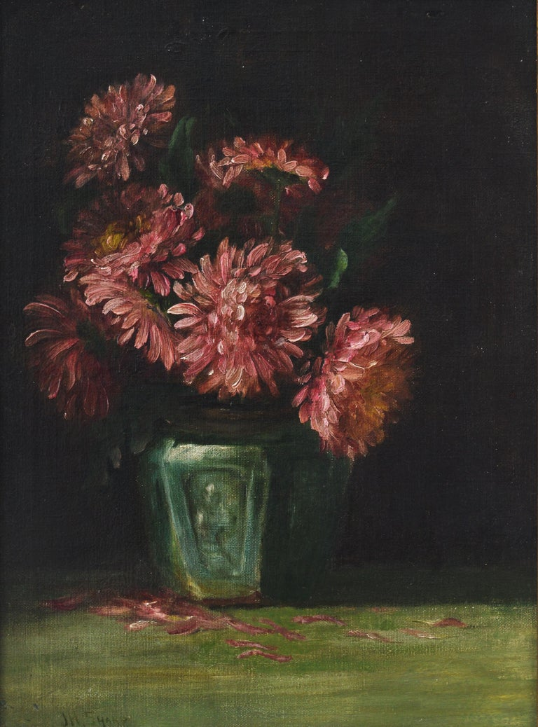 Flowers in a Vase - Painting by Joseph Henry Sharp