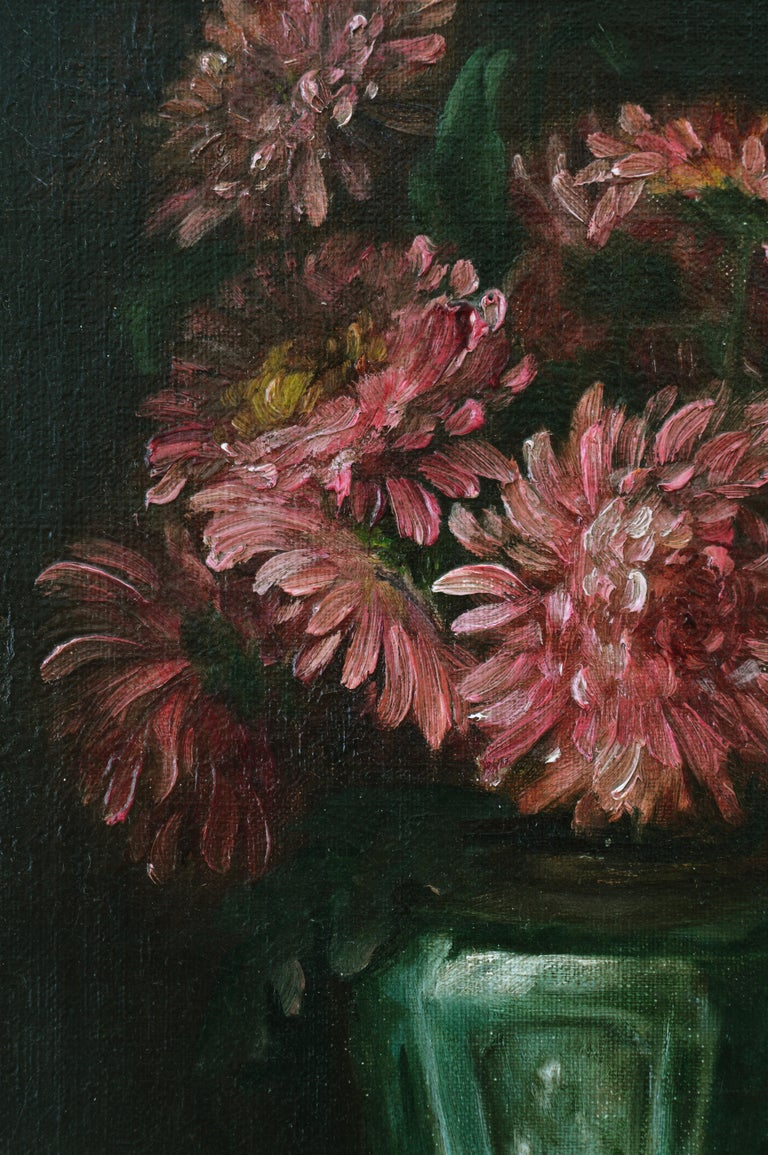 Flowers in a Vase - American Realist Painting by Joseph Henry Sharp