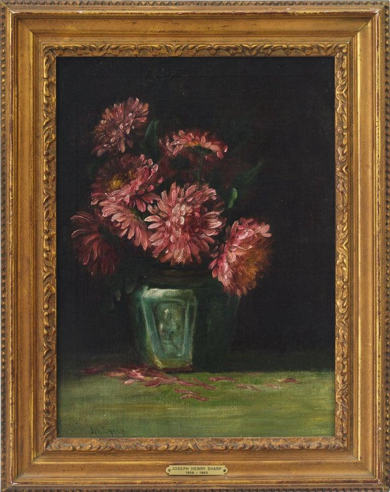 Joseph Henry Sharp Still-Life Painting - Flowers in a Vase