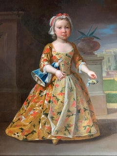 18th Century English Portrait of a Girl and Doll  (circle of J. Highmore)
