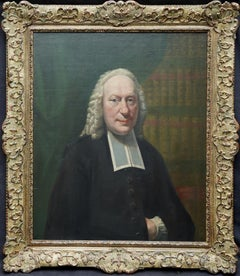 Portrait of a Cleric - British 18th century art Old Master oil painting