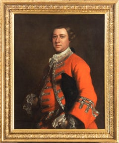 Portrait of a gentleman, wearing a red coat