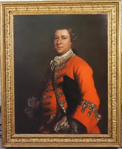 Portrait of a gentleman, wearing a red coat