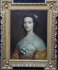 Portrait of Elizabeth Banks - British 18th Century art Old Master oil painting