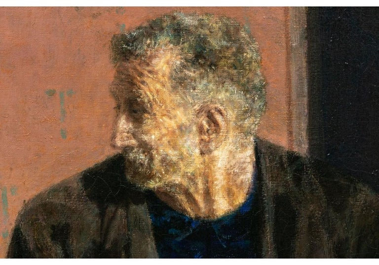 20th Century Joseph Hirsch Oil on Canvas, Scene with Semi Nude Female F For Sale