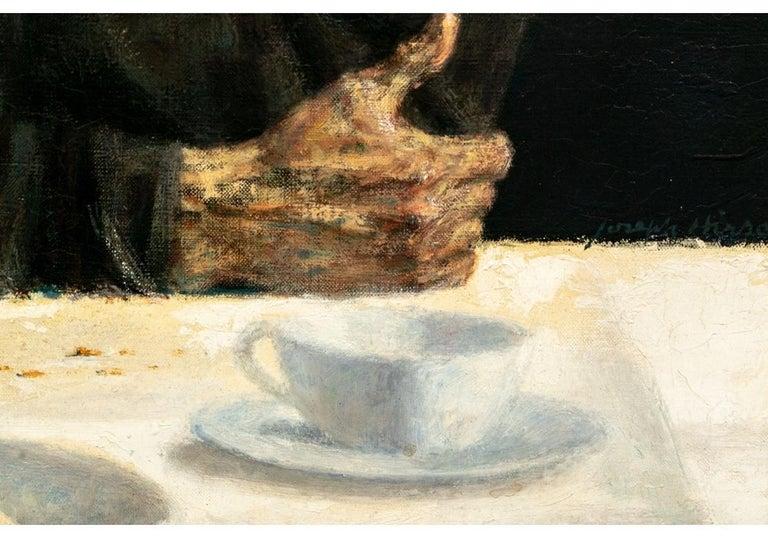 Joseph Hirsch Oil on Canvas, Scene with Semi Nude Female F For Sale 1