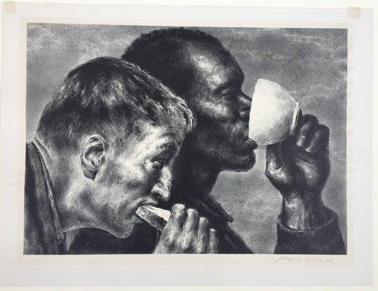 BANQUET - Print by Joseph Hirsch