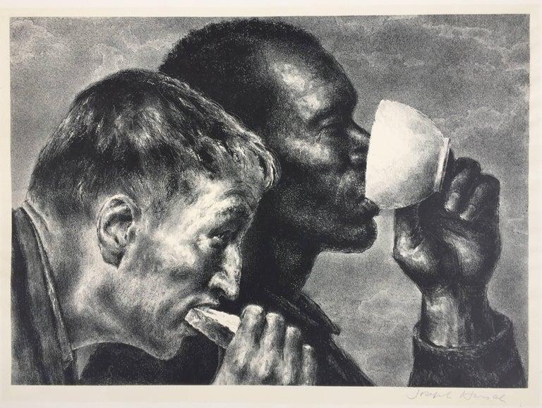 Joseph Hirsch Figurative Print -  BANQUET