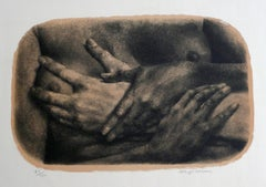 UNTITLED (WOMAN WITH HANDS ACROSS BREASTS)