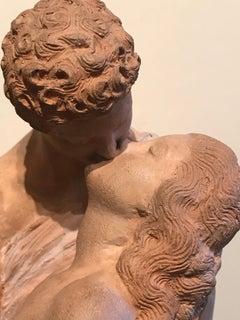 Neo-classical Figurative Terracotta Statue,'The Kiss', Petit Palais Paris