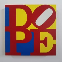 Colorado (Amendment 64), Dope in Blue, Yellow, Red and White on panel