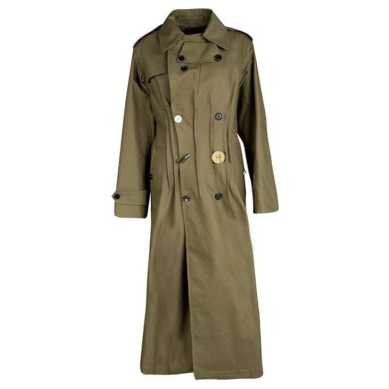 Joseph Khaki Twist Cotton Urb Double Breasted Trench Coat M