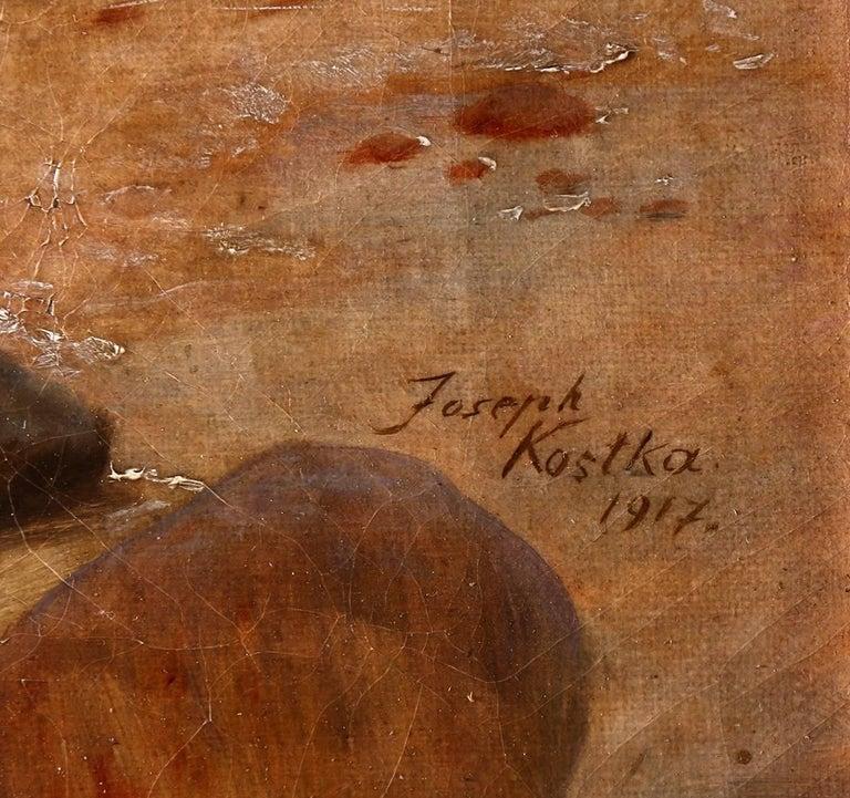 Sally At The Seashore - Painting by Joseph Kostka