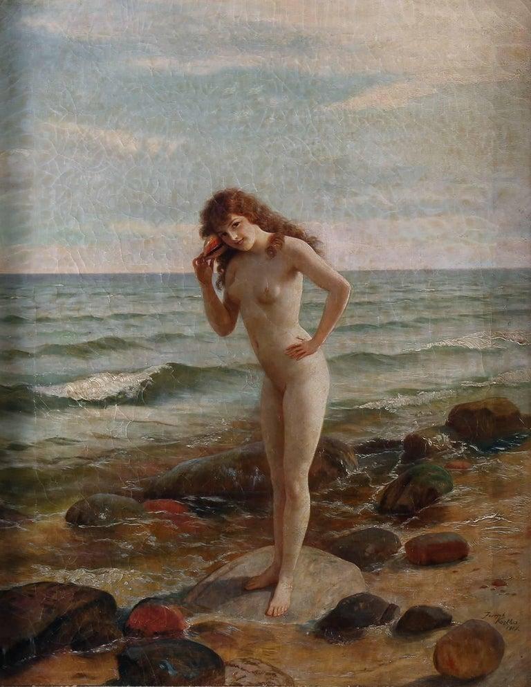 Joseph Kostka Nude Painting - Sally At The Seashore