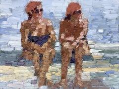 Sisters, Painting, Oil on Wood Panel