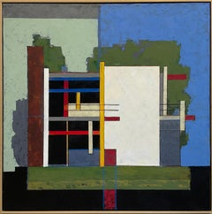 Loos: Abstract Geometric Painting Inspired by Adolf Loos Architecture & De Stijl