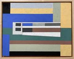 Mies (Abstract Architecture Landscape of Gouache on Wooden Panel)