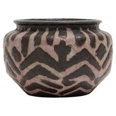 Joseph Massé, Art Deco 'Africaniste' Ceramic Vessel, c. 1930