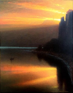 """""""Prism, River and Sky,"""" Oil Painting"""