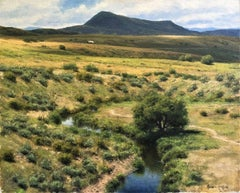 """Rhythm of the Land, Elk Mountain,"" Oil Painting"