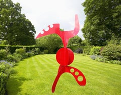 Planet X  Large Red Garden Sculpture