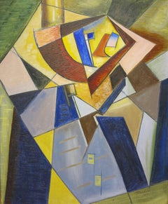 Untitled cubist portrait painting c.1934