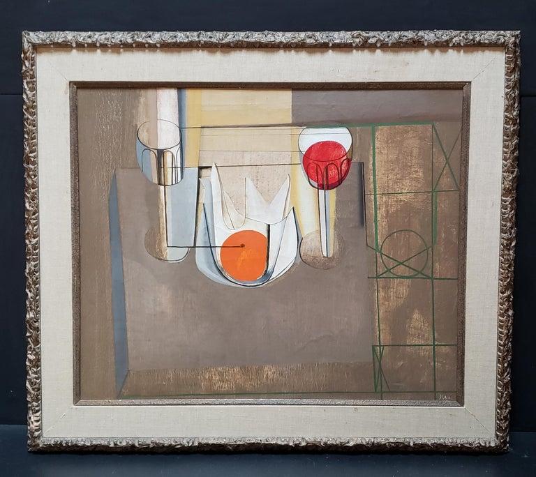 Joseph Mellor Hanson, Still Life with an Orange Oil on Canvas, 1956 For Sale 2