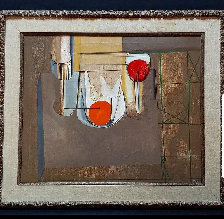 Joseph Mellor Hanson, Still Life with an Orange Oil on Canvas, 1956 For Sale 3