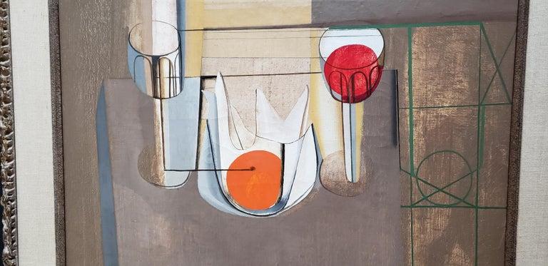 Paint Joseph Mellor Hanson, Still Life with an Orange Oil on Canvas, 1956 For Sale